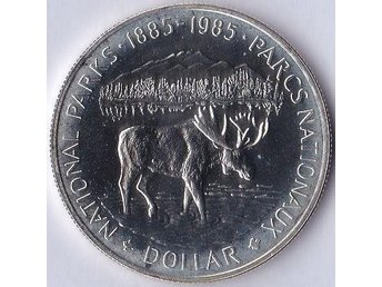 1dollar National Parks 1885 - 1985 Kanada 1985 Silver 23,33g Prooflike
