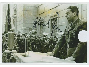 Tredje Riket WW2 Albert Speer Pre-Printed Autograf Photo Foto