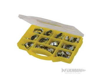 Silverline 138252 Hose Clip Clamp Assortment Pack Zinc Plated 60 Piece Tools