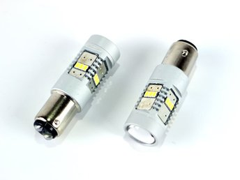 Bay15d p21/5w Led med 14st 3020smd chip 6000K 2-pack 12v 1157
