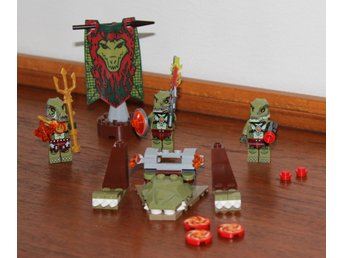 LEGO CHIMA 70231 CROCODILE TRIBE PACK, KOMPLETT MED FIGURER!