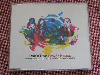 Rob 'n' Raz - Power House CD Single Starring D-Flex,Lutricia McNeal