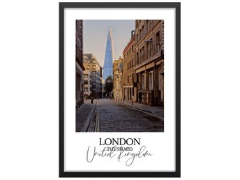 Affisch Poster Storbrittanien London The Shard 33x48