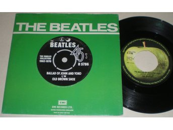 Beatles 45/PS Ballad of John & Yoko / Old brown shoe UK 1976