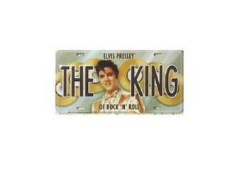 Elvis Presley License Plate The King.