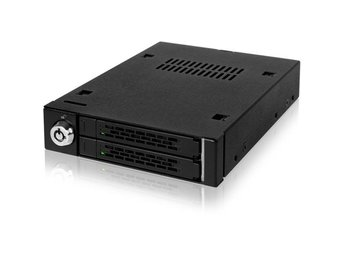 "ICY DOCK internt kabinett, 2x2,5"" SSD/HDD, 6Gb/s, i en 3,5""-plats"