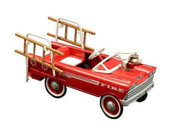 1962 Murray Super Deluxe Fire Truck,  Hallmark Kiddie Car Classics