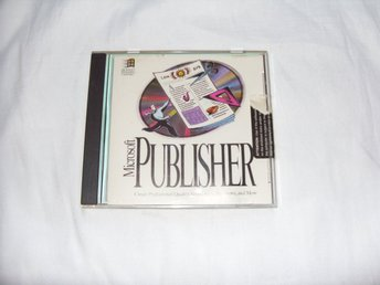 Microsoft Publisher 1994 för PC CD ROM och Windows
