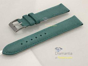 18 mm -- NYTT -- klockarmband i äkta läder -- Turkos -- blå armband för klockor - Boliden - 18 mm -- NYTT -- klockarmband i äkta läder -- Turkos -- blå armband för klockor - Boliden