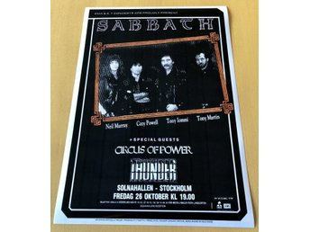 BLACK SABBATH SOLNAHALLEN 1990 PHOTO POSTER