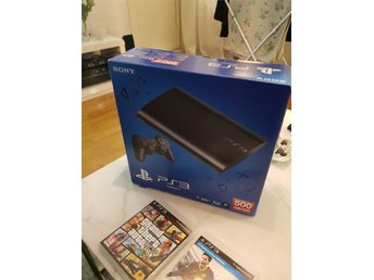Playstation 3 500 GB i Kartong, 3 spel, Fint skick