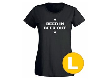 T-shirt Beer In Beer Out Svart Dam tshirt L