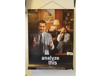 Analyze This. Affisch / Poster, 70x100 m Robert De Niro & Billy Crystal