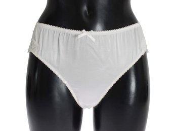 Dolce & Gabbana - White Satin Stretch Underwear Panties