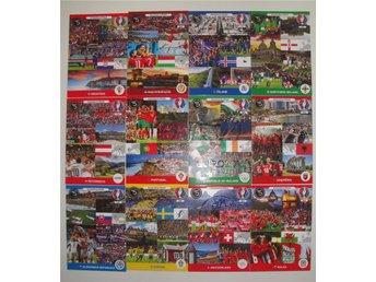 Passion & Pride KOMPLETT SET 12 kort Panini Euro 2016 France - Sverige Wales mfl - Borrby - Passion & Pride KOMPLETT SET 12 kort Panini Euro 2016 France - Sverige Wales mfl - Borrby