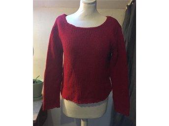 GANNI ull angora tröja boxig röd trend S stickad - Strängnäs - GANNI ull angora tröja boxig röd trend S stickad - Strängnäs