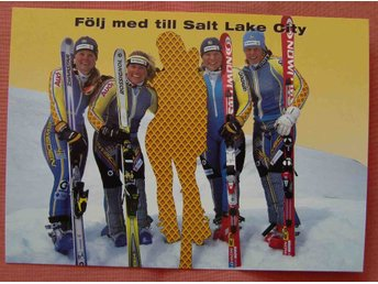 Sport olympiad vinter OS  2002 Salt Lake City alpina landslaget reklam