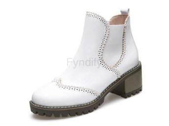 Dam Boots Out Heels Boots Women Daily Footwear White 34