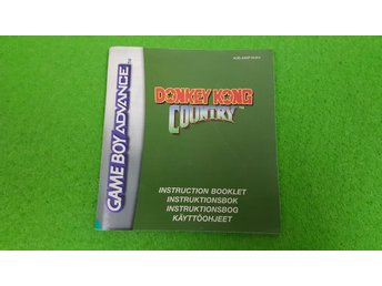 Donkey Kong Country Manual Gameboy Advance Nintendo GBA