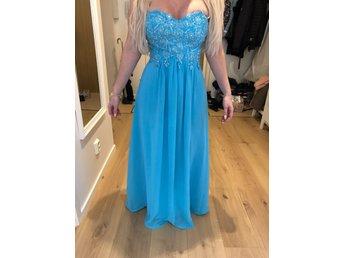 5aca5b308a7 Balklänning, Blå festklänning, långklänning S - M (347344774) ᐈ Köp ...