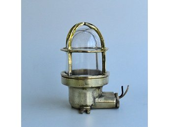 Vägglampa antik mässing Wiska #SigtunaMarin