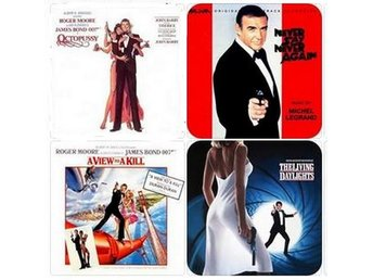 JAMES BOND SOUNDTRACK COASTERS - Set of 4