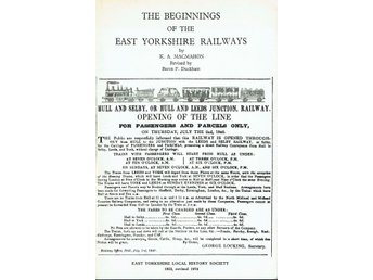 The beginnings of the east yorkshire railways (På engelska)
