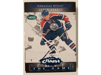 1994-95 Parkhurst Crash the Game Blue #R8 Jason Arnott - Edmonton Oilers - Linköping - 1994-95 Parkhurst Crash the Game Blue #R8 Jason Arnott - Edmonton Oilers - Linköping