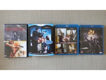 24 - Redemption (DVD) + Säsong 7, 8 & 9 Live Another Day (Blu-ray). Nyskick!