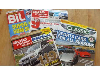 Auto Motor & Sport, Classic & Sports Car, Aftonbladet Bil, total fyra magasin