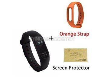 Xiaomi Mi Band 2 + Screen Protector + Orange Strap Fri Frakt Helt Ny