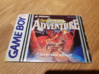 Castlevania Adventure SCN Manual GAME BOY