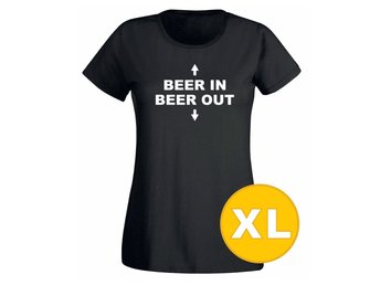 T-shirt Beer In Beer Out Svart Dam tshirt XL