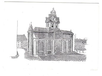 St. Jacobs kyrka efter teckning - Segeltorp - St. Jacobs kyrka efter teckning - Segeltorp