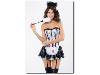 Kostym halloween french maid strl.36/38