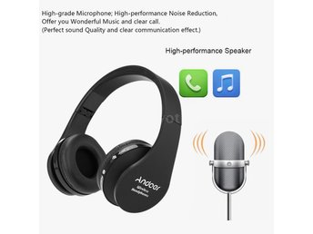 Foldable Wireless Bluetooth Over Ear Headphones headset Earphone