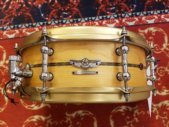 "Tama Star Reserve snare Solid Maple Shell TLM145S, Oiled Natural Maple 14""x5"""