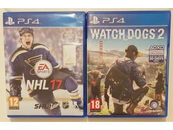 NHL 17 & WATCH DOGS 2
