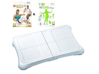 Wii Fit Plus, EA Active More Workouts & Balansbräda Nintendo Wii