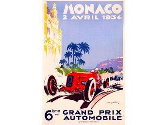 MONACO GRAND PRIX 1934 & 1935 EXTREM ART DÉCO Motorsport race 2 x A2 posters - Helsingborg - MONACO GRAND PRIX 1934 & 1935 EXTREM ART DÉCO Motorsport race 2 x A2 posters - Helsingborg