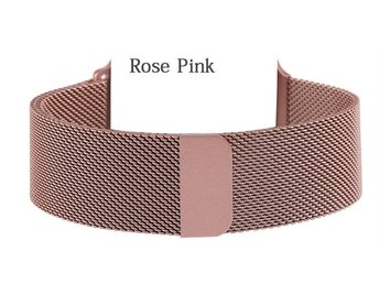 42 mm / Rosa / Apple watch armband Milanese Loop Rostfritt