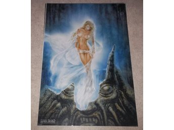 LUIS ROYO Echo of the Moon (poster affisch) blond flicka