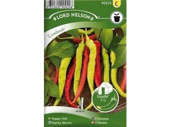 Javascript är inaktiverat. - örebro - Mild, smakrik, med aromatisk och sötaktig smak. Slanka frukter, ca 12-16 cm, ljusgröna som omogna och röda som mogna. De skördas i vilket mognadsstadium man vill. Så redan i januari och odla som krukväxt tills det är dags för utplanterin - örebro