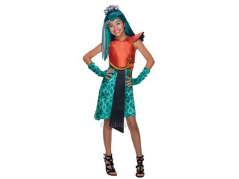 MONSTER HIGH 5-7år Nefera De Nile Hel Dress Dräkt Monsters Boo York