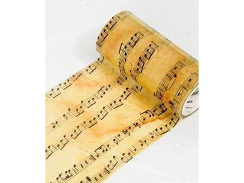 Vintage musical notes - Japanese washitejp washi dekorationstejp tejp