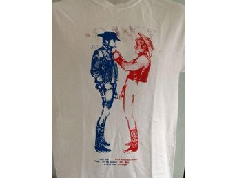 COWBOYS - T-Shirt - (LARGE) (NY, Sex Pistols, 1977, Punk, Sid, Tom Of Finland,)