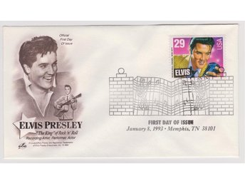 29c Elvis Presley First Day Cover January 8, 1993 FDC