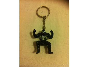 Nyckelring Spiderman Spindelmannen Black. L: 9cm