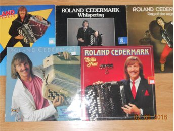5st LP ROLAND CEDERMARK Dragspel