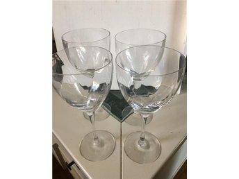 4 stycken Chateau glas vinglas 80-tal kosta Bertil Vallien - ånimskog - 4 stycken Chateau glas vinglas 80-tal kosta Bertil Vallien - ånimskog